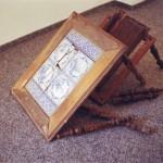 servírovací stolek,holand.kachle